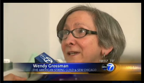 ASG Sew Chicago Neighborhod Group Leader Wendy Grossman on ABC segment talks about sewing as a lost art.