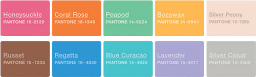 Pantone Fashion Report Color Palette Spring 2011