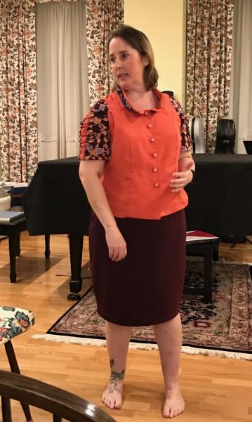 Stephanie- new shirt and skirt
